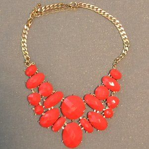 Bright Red Statement Necklace